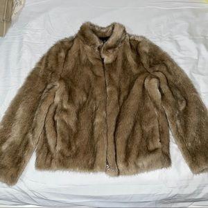 Zara Faux Fur Coat size XS